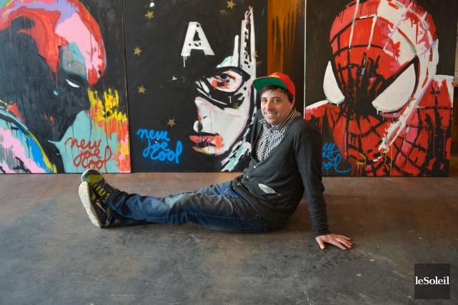 L'artiste Pierre Bouchard signe les portraits de ses... (Le Soleil, Yan Doublet)