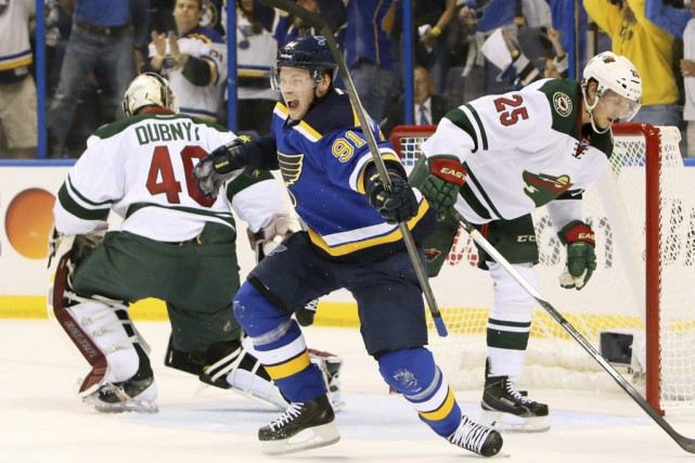 Vladimir Tarasenko... (Photo Chris Lee, AP)