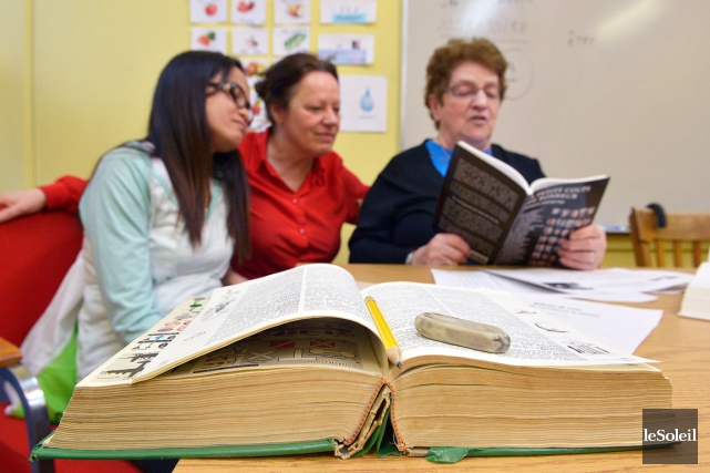 L'organisme Atout-Lire propose trois cours d'alphabétisation par semaine.... (Le Soleil, Jean-Marie Villeneuve)