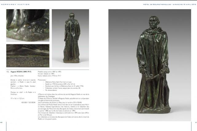 La sculpture est une réduction d'une cinquantaine de... (IMAGE TIRÉE DE NORMANDY-AUCTION.FR)
