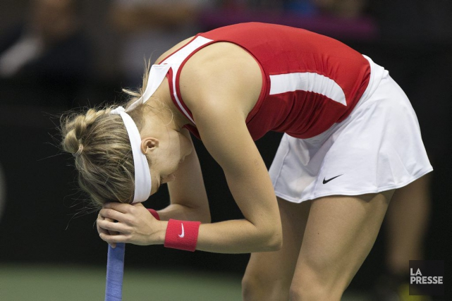 Eugenie Bouchard... (PHOTO ROBERT SKINNER, LA PRESSE)