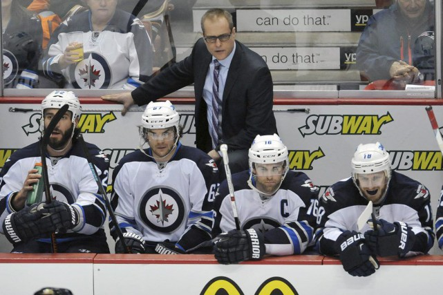 L'entraîneur des Jets Paul Maurice aimerait que son... (PHOTO Gary A. Vasquez, USA TODAY SPORTS)