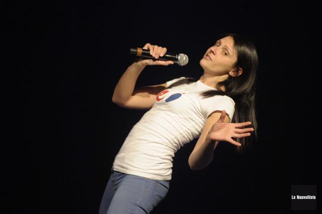 Korine Côté a fait preuve de beaucoup de... (Photo: Sylvain Mayer Le Nouvelliste)