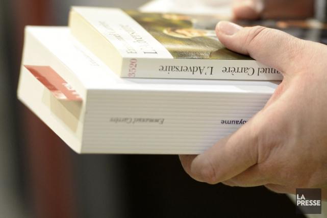 Pour souligner de façon originale la 20e Journée mondiale du livre et du droit... (Photo: Bernard Brault, archives La Presse)