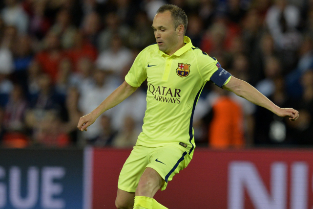 Andres Iniesta... (Photo Miguel Medina, AFP)