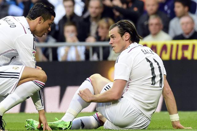 Cristiano Ronaldo etGareth Bale... (Photo Gérard Julien, AFP)