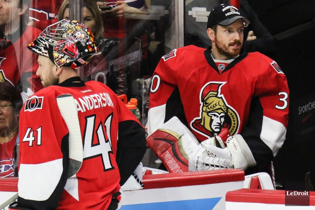 Craig Anderson et Andrew Hammond... (Photo Patrick Woodbury, Le Droit)