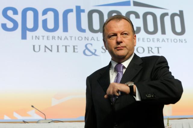 Le président de l'association des fédérations sportives internationales,Marius... (Photo Dmitry Lovetsky, archives AP)
