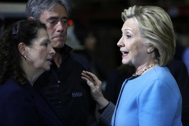 Hillary Clinton a peu parlé à la presse... (Photo: AP)