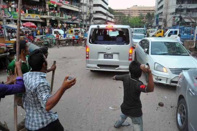 La télévision locale a montré des images d'une... (Photo: AFP)