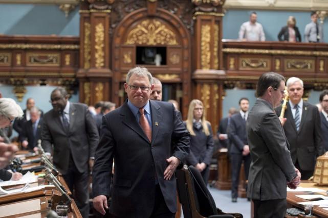 Le président de l'Assemblée nationale Jacques Chagnon et... (La Presse Canadienne, Jacques Boissinot)