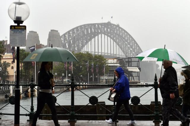 Trois personnes ont trouvé la mort dans la région de Sydney, la plus grande... (Photo: AFP)