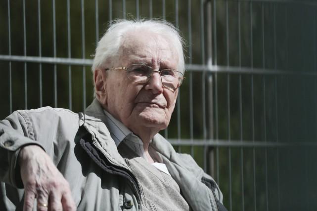 L'ancien comptable d'Auschwitz Oskar Gröning, 95 ans, a... (PHOTO MARKUS SCHREIBER, archives AP)