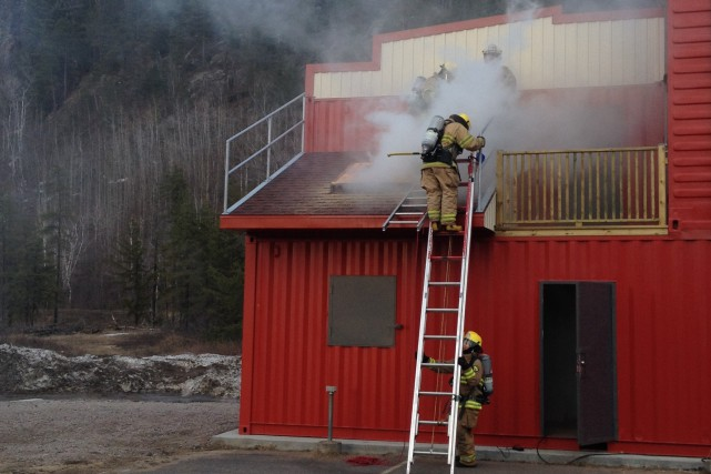 Les pompiers de La Tuque utilisent activement le... (Photo: courtoisie)
