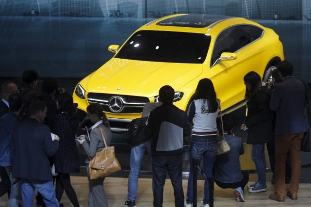 Le Mercedes GLC coupé Concept... (Photo Carlos Barria, Reuters)