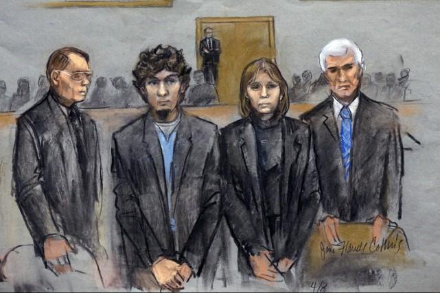 La décision reviendra aux mêmes 12 jurés qui... (ILLUSTRATION JANE FLAVELL COLLINS, ARCHIVES AP)