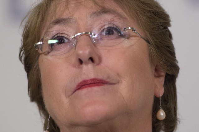 La présidente du Chili, Michelle Bachelet... (Photo Jim WATSON, archives AP)