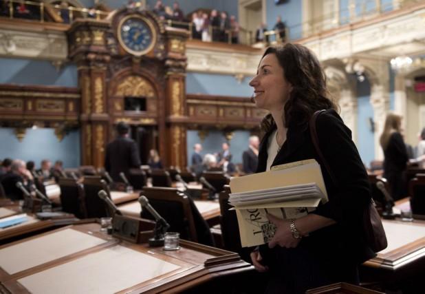 La député péquiste Martine Ouellet arrive pour la... (La Presse Canadienne, Jacques Boissinot)
