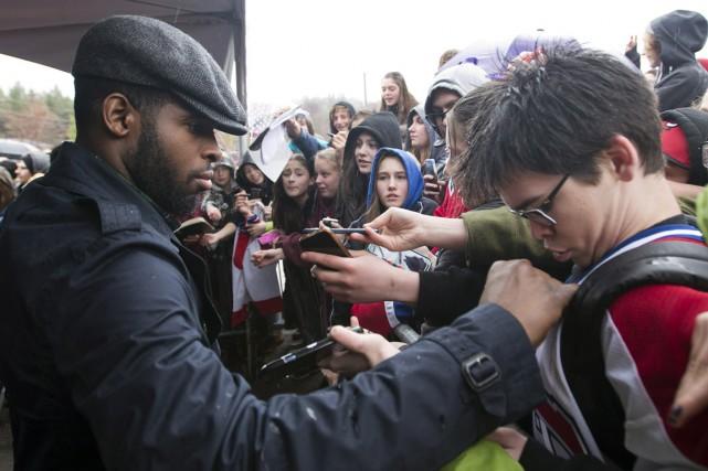Le Canadien a reçu un accueil digne des plus grands groupes musicaux à... (Photo La Presse Canadienne)