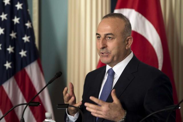 Le ministre turc des Affaires étrangères, Mevlut Cavusoglu.... (PHOTO BRENDAN SMIALOWSKI, AFP)