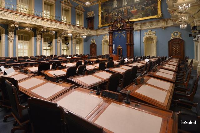 Le nombre de députés siégeant à l'Assemblée nationale... (Photo Yan Doublet, archives Le Soleil)