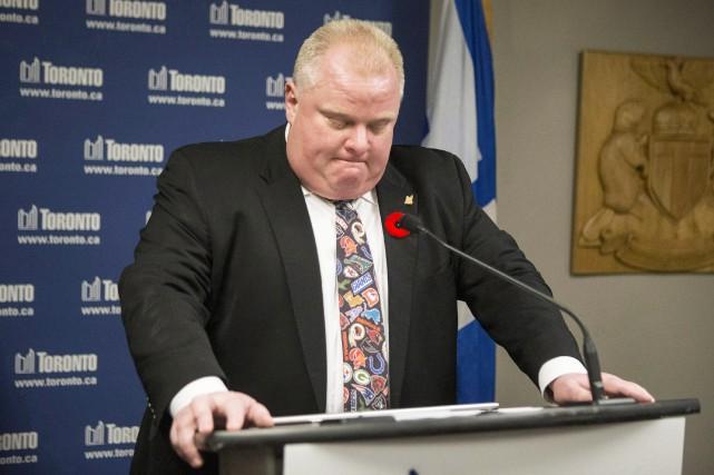 Ford portait cette cravate en novembre 2013 quand... (Photo La Presse Canadienne)