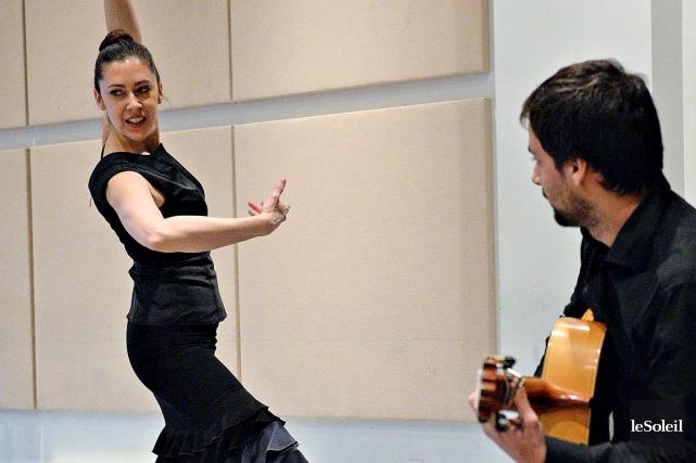 Au programme, une initiation au flamenco à l'école... (Le Soleil, Patrice Laroche)