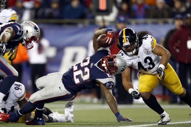 Pour les Patriots de la Nouvelle-Angleterre, l'une des récompenses tardives... (Photo: AP)