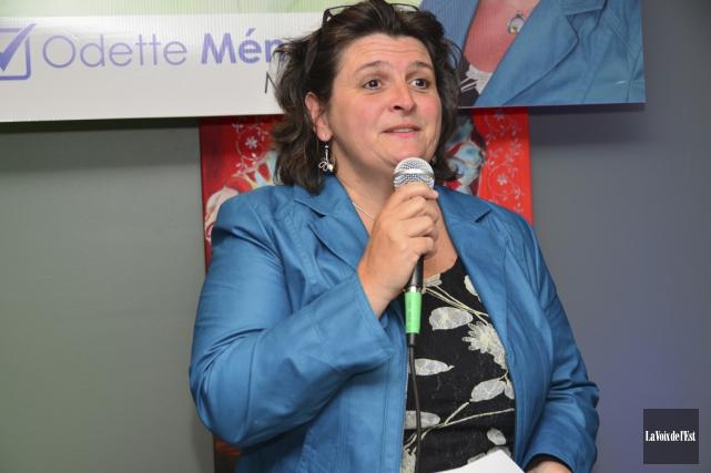 L'ex-mairesse d'Ange-Gardien, Odette Ménard, a été un des... (photo archives La Voix de l'Est)