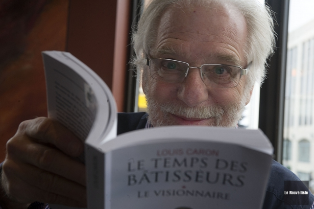 Le premier tome de la trilogie Le Temps... (Photo: Stéphane Lessard Le Nouvelliste)