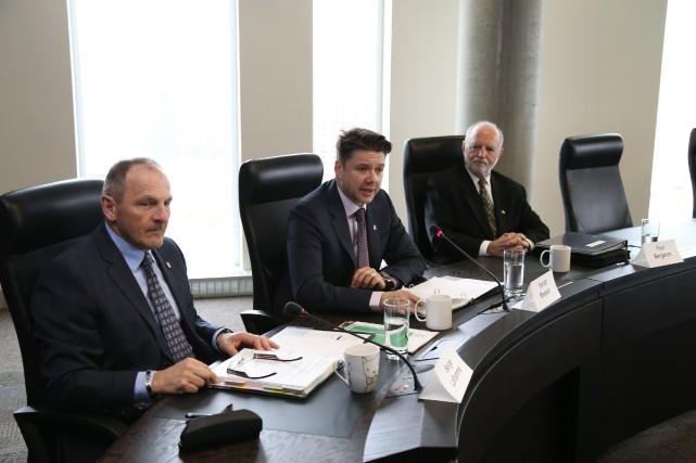 Le directeur général de la Caisse, Serge Laflamme,... (photo Janick Marois)