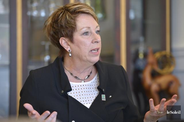 France Hamel, la femme de confiance de l'ex-maire... (Le Soleil, Yan Doublet)