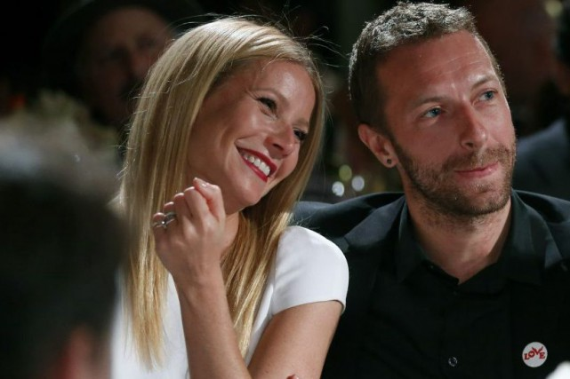 Gwyneth Paltrow et Chris Martin lors d'un gala... (Photo: archives AP)