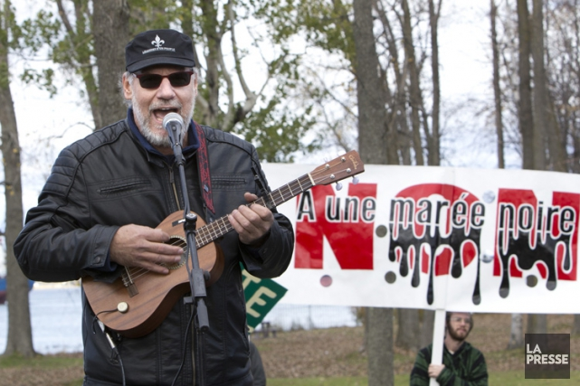 Jici Lauzon lors de la manifestation «Marchons ensemble... (Photo: Robert Skinner, La Presse)