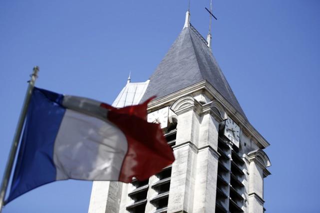 L'Église Saint-Cyr-Sainte-Julitte de Villejuif, en banlieue parisienne, était... (Photo: AFP)