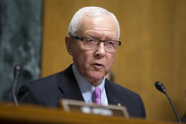 Le sénateur républicain Orrin Hatch, président de la... (Photo: AP)