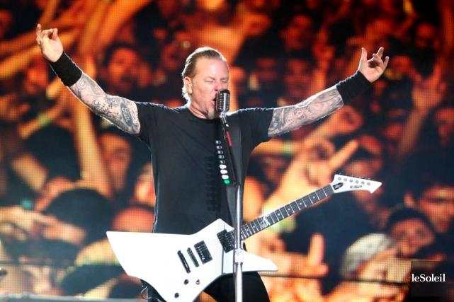 James Hetfield, du groupe Metallica... (PHOTO ARCHIVES LE SOLEIL)