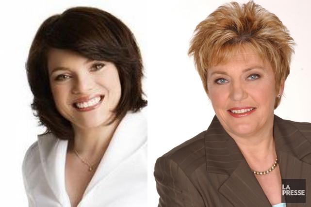 Les candidates dans Chauveau Véronyque Tremblay (à gauche)... (Photomontage La Presse)