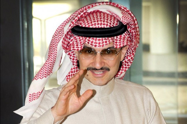 Le prince Al-Walid ben Talal... (PHOTO TIRÉE DE TWITTER)