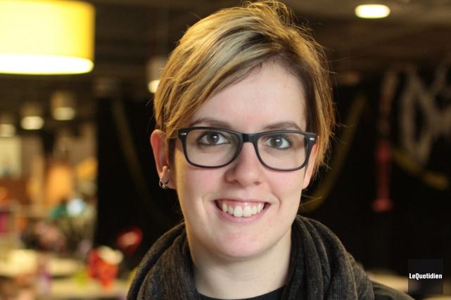 Gabrielle Simard, présidente du MAGE-UQAC abordent ce sujet... ((Archives Le Quotidien))