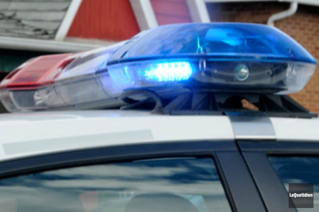 Une importante poursuite policière a tenu en haleine... ((Archives Le Quotidien))