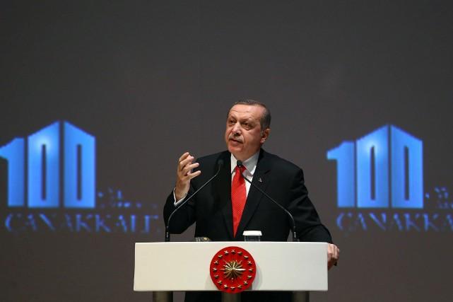 Le président turque Recep Tayyip Erdogan... (PHOTO AFP/GOUVERNEMENT TURQUE)