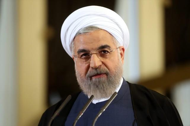 Le président iranien Hassan Rohani... (Photo Ebrahim Noroozi, AP)