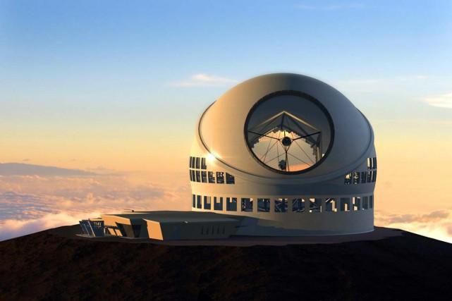 Comme la puissance d'un télescope est fonction de... (ILLUSTRATION FOURNIE PAR TMT OBSERVATORY CORPORATION)