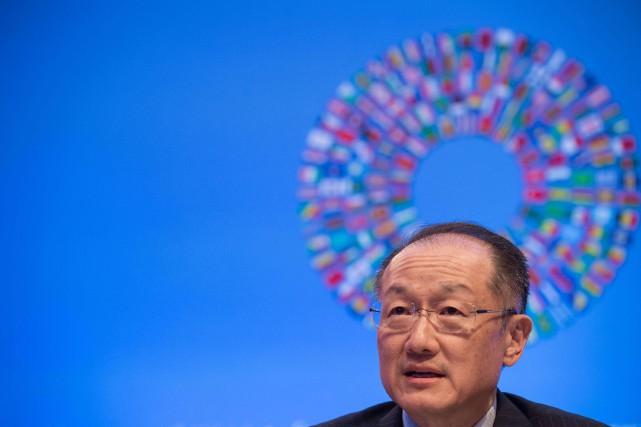 Jim Yong Kim,président de la Banque mondiale.... (PHOTO NICHOLAS KAMM, ARCHIVES AFP)