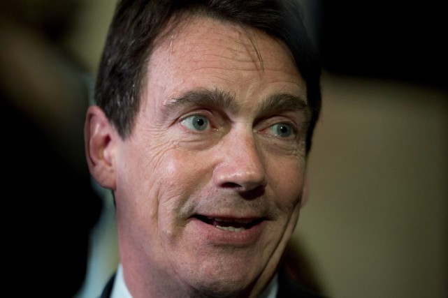 Pierre Karl Peladeau... (PHOTO JACQUES BOISSINOT, LA PRESSE CANADIENNE)