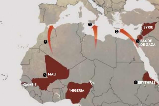 D'où viennent les migrants qui risquent leur vie dans des rafiots surchargés et... (SOURCE THE NEW YORK TIMES)