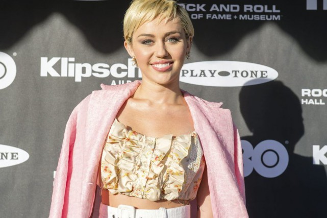 Miley Cyrus photographiée samedi dernier.... (PHOTO ARCHIVES AP)