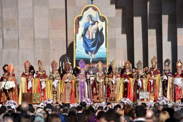 L'Église arménienne a canonisé jeudi les 1,5 million... (PHOTO KIRILL KUDRYAVTSEV, AFP)