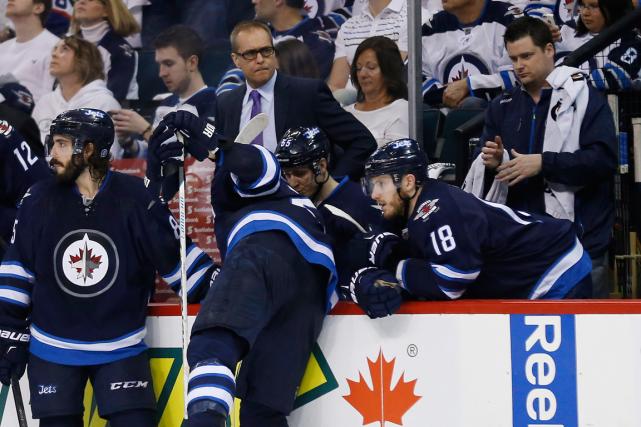 Les Jets de Winnipeg ont été éliminés en... (Photo John Woods, PC)